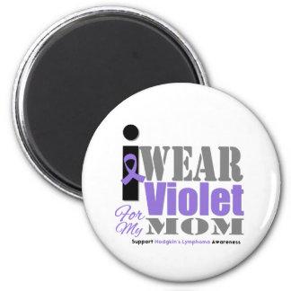 Violet Ribbon Mom - Hodgkin's Lymphoma 6 Cm Round Magnet