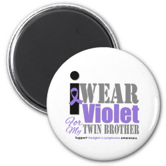 Violet Ribbon Twin Brother - Hodgkin's Lymphoma 6 Cm Round Magnet