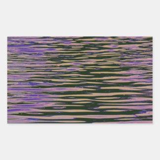 Violet Ripples Rectangular Sticker