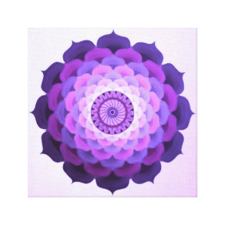 Violet rose mandala canvas print