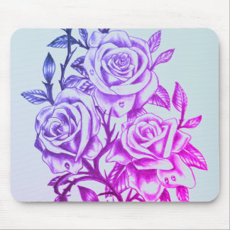 violet roses mouse pad