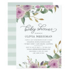 Violet & Sage Baby Shower Invitation