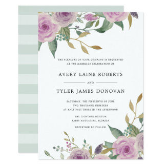 Violet & Sage Wedding Invitation