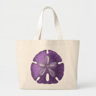 Violet Sand Dollar Large Tote Bag