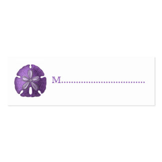 Violet Sand Dollar Reception Table Seating Cards Pack Of Skinny Business Cards