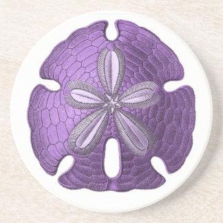 Violet Sand Dollar Stone Coaster