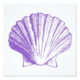 Violet Sea Shell Luau Reception Invitation