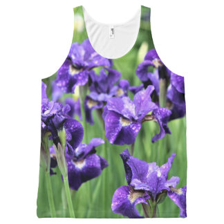 Violet Siberian Iris, Ceasar's Brother, All-Over Print Tank Top