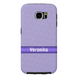 Violet small plaid pattern. samsung galaxy s6 cases