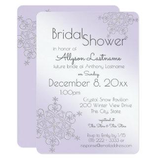 Violet Snowflake Bridal Shower 11 Cm X 16 Cm Invitation Card