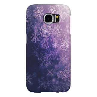 Violet Snowflake Personalized Case Samsung Galaxy S6 Cases