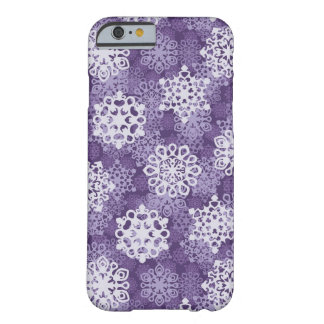 Violet Snowflakes Pattern Barely There iPhone 6 Case