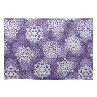 Violet Snowflakes Pattern Placemat
