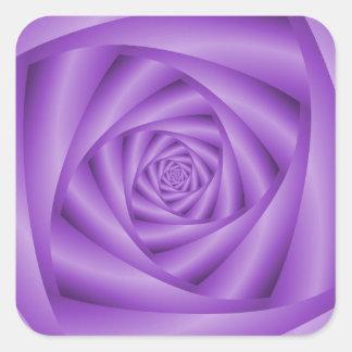 Violet Spiral Square Sticker