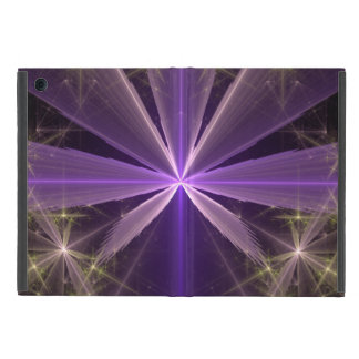 Violet Star Flower Abstract Fractal Cover For iPad Mini