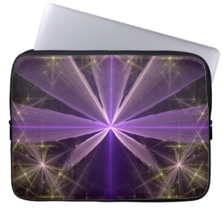 Violet Star Flower Abstract Fractal Laptop Sleeve