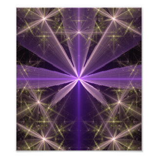 Violet Star Flower Abstract Fractal Photograph