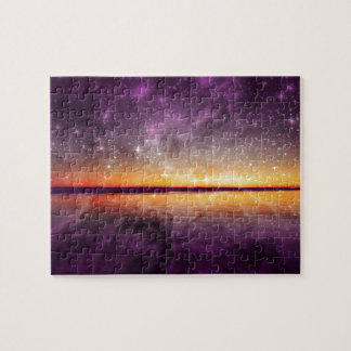 Violet stars and Sunset Lake Puzzle