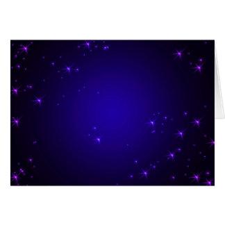 Violet Stars  (landscape) Card