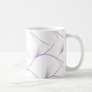 Violet stem mug basic white mug