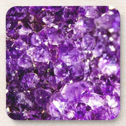 Violet Stone Beverage Coaster