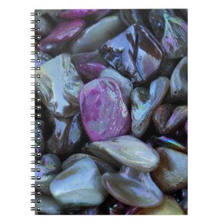violet stones spiral notebook