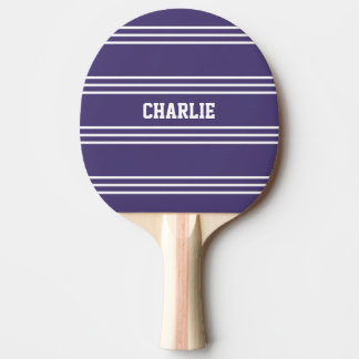 Violet Stripes custom monogram paddle