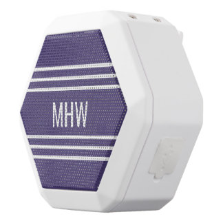 Violet Stripes custom monogram speakers