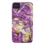 Violet Summer Abstract iPhone Case-Mate ID iPhone 4 Cases