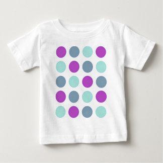 Violet Teal Polkadots Baby T-Shirt