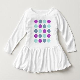 Violet Teal Polkadots Dress