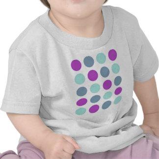 Violet Teal Polkadots T Shirts