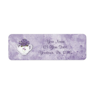 Violet Teapot Address Label