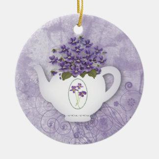 Violet Teapot Ornament