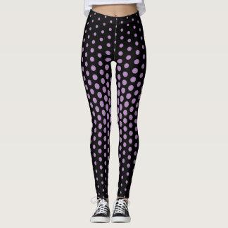 Violet Techno Dot Pattern Leggings