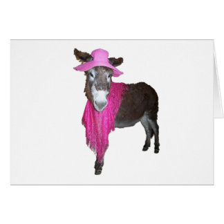 Violet the Donkey Dressed in Pink Card