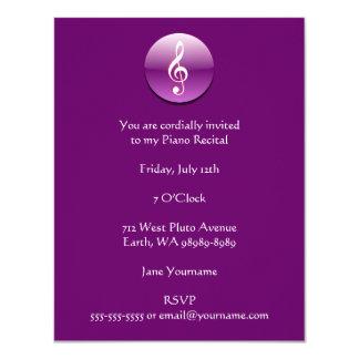 Violet Treble Clef Button Card