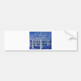 Violet Trees Bumper Sticker