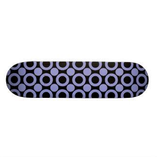 Violet Tulip Dot 3 Skate Deck