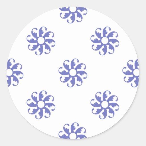 Violet Tulip Flower 7 Round Stickers