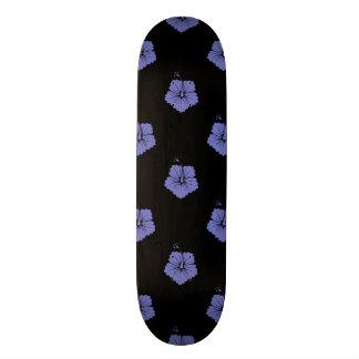 Violet Tulip Flower Pattern 3 Skateboard Decks