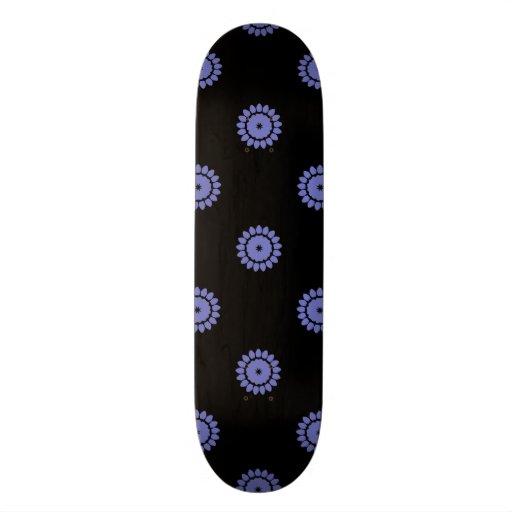 Violet Tulip Flower Pattern 4 Custom Skateboard