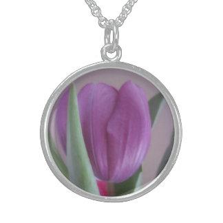 Violet Tulip Necklace