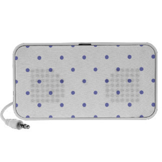 Violet Tulip Polkadots Small Travelling Speakers