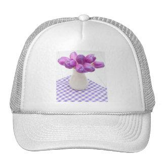 Violet Tulips Mesh Hat