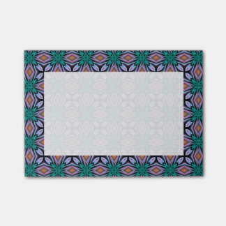 Violet Turquoise Brown Fractal Jewel Pattern Post-it® Notes