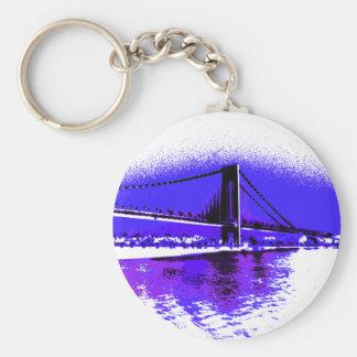 Violet Verrazano Bridge keychain