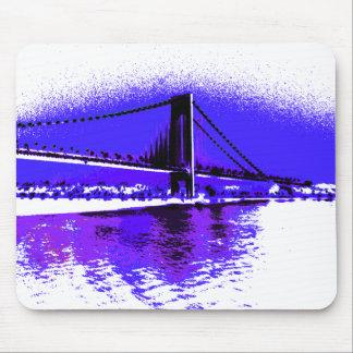 Violet Verrazano Bridge mousepad
