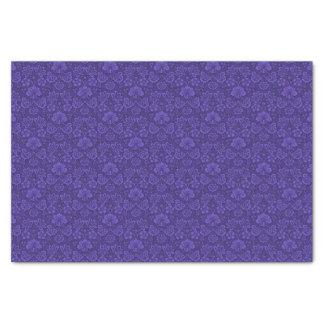 Violet Vintage Damask Tissue Paper