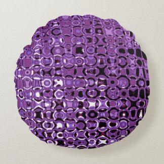 Violet Vortex Round Throw Pillow